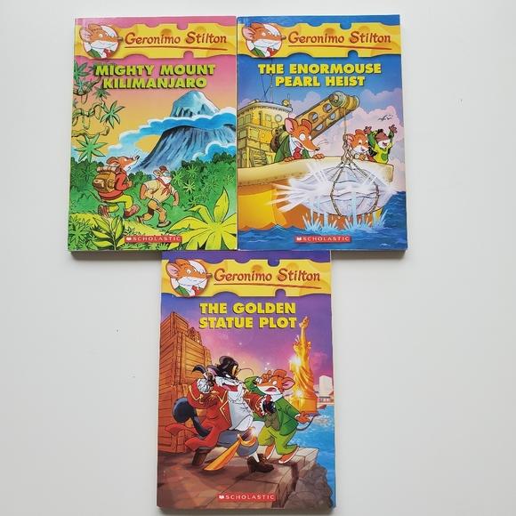Scholastic Geronimo Stilton Book Set -#41,51 & 55